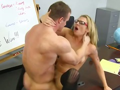 Blonde trainee has scr... video