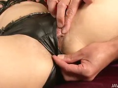 Leather clad maria is ... video