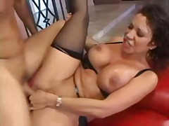 Busty asian drilled ha... video