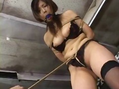 nylons, gagging, spank, bondage, asian