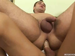redhead, guy, oral, fucking, shemale