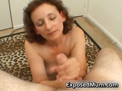 Stroking a hard cock f...
