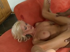 blonde, hardcore, facial, interracia
