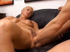 Blonde mature having h... video