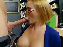 Four-eyed blonde krissy ly... - 08:00