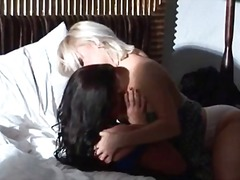 Two super sexy lesbians getting horny taking her clothes of