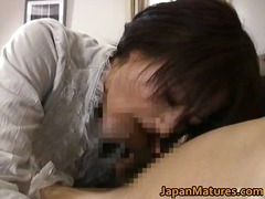 Mature real asian woman getting