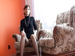 cougar, pussy, nylons, hairy, wife, cheating, older, milf, mature, reality, brunette, amateur