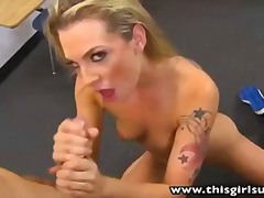 blue, bailey, blonde, handjob