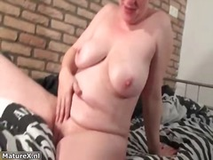 masturbation, older, mature, blonde