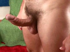 jerking, hunk, solo, cock, big