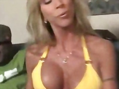 Mom sucks black cock s...