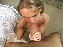 Pussy playing mom rides thick cock do...