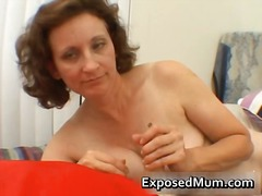 Horny mom next door st...