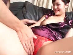 See: Brunette asian gets cu...