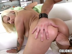 blonde, ebony, lick, mom, shaved
