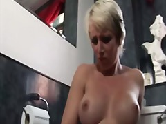 shower, blonde, masturbation, milf