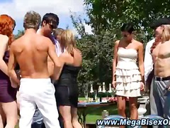 Picnic gets naughty with hot bi dudes and chicks