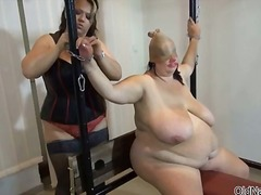 Horny bbw granny loves some bdsm part2