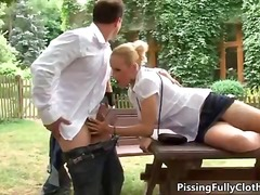 Nasty blonde woman get...