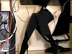 Secretaries under desk hidden cam mas...
