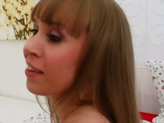 See: Hot blond with red ana...