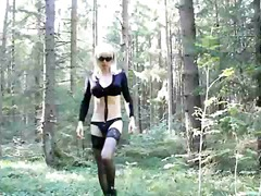 toys, lingerie, crossdresser, solo, outdoors