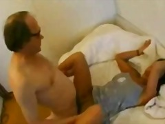 Arab girl with old man video