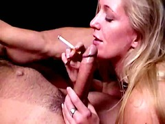 Chesty blond smoker hoe di... - 03:00