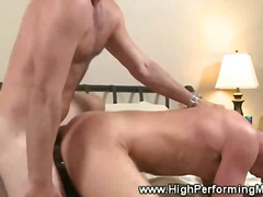 Gay muscle gets shoved inside his twi...