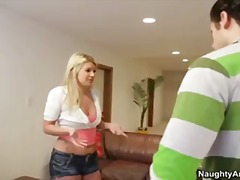 Hot blonde with big as... video