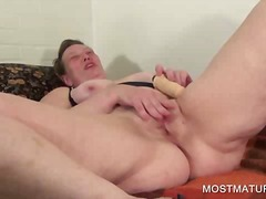 fingering, mature, big, boobs, solo