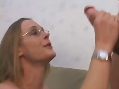 facial, milf, blonde, homemade, glasses, wife, swingers