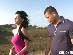 Beautiful latina chick luchy was pick...