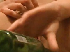 PornoXO Movie:Sweet teen fucking bottle