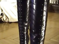 Boot worship in straig... video