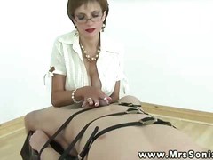 Big titted mature keeps jerking cock
