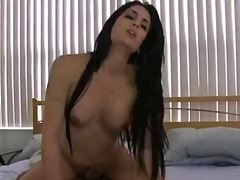 Horny brunette tbabe p... video