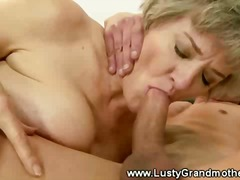 Granny amateur gets her pussy licked ...