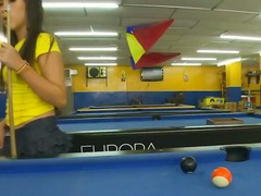 Linda having worked in pool halls