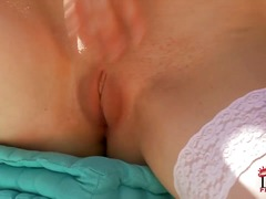 Tina kay bends over an... video