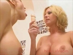 Busty wives dildo fuck...