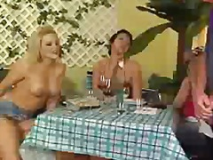 Femdom at restaurant preview