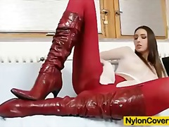 Tube8 - Sexy pamela fully nylo...