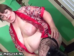 mature, older, solo, bbw, amateur, masturbation, stockings, wife