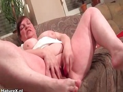 masturbation, stockings, dildo, older, solo, mature, wife, bbw, amateur