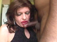 sucking, mature, crossdresser,