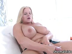 Titty shemale blonde h... - aShemaleTube