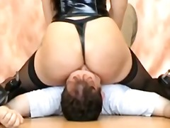 Nylons face sitting video