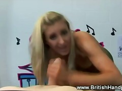 Blond slut is not very impresssed with his cock